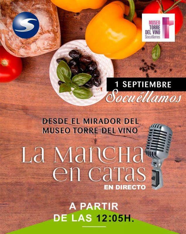"""Imagen Emisión en directo del programa de radio """"La Mancha en Catas"""" desde el Museo Torre del Vin"""
