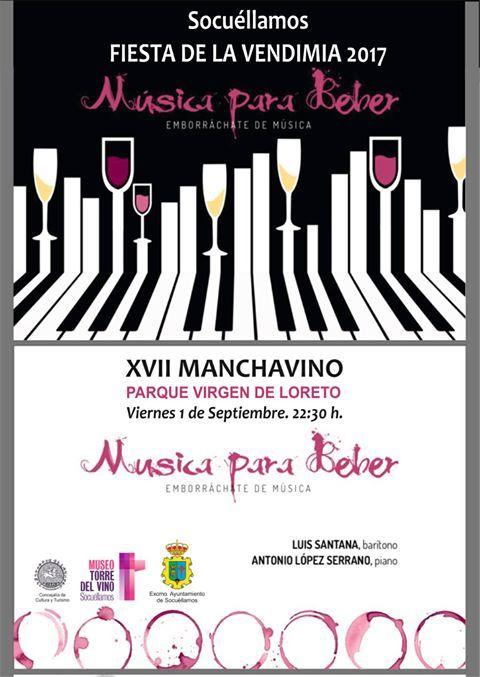 """Imagen """"Música para Beber"""", con Luis Santana y Antonio López Serrano, en el Parque Virgen de Lore"""