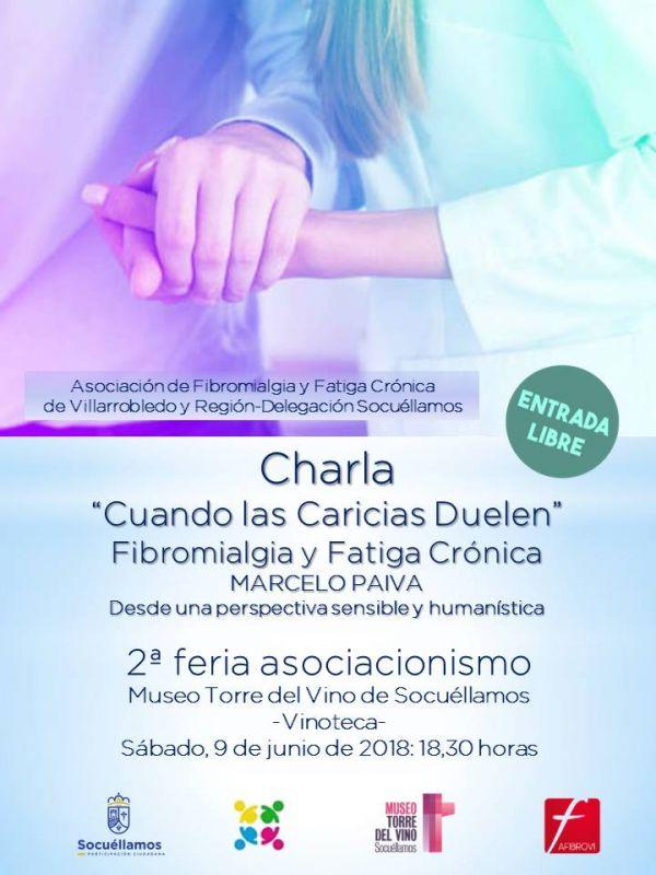 """Imagen """"Cuando las caricias duelen"""", charla sobre la Fibromialgia y la Fatiga Crónica."""