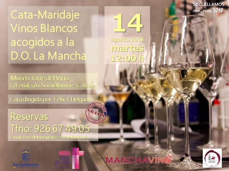 Imagen Cata Maridaje de Vinos Blancos DO La Mancha, dirigida por Félix J. Delgado