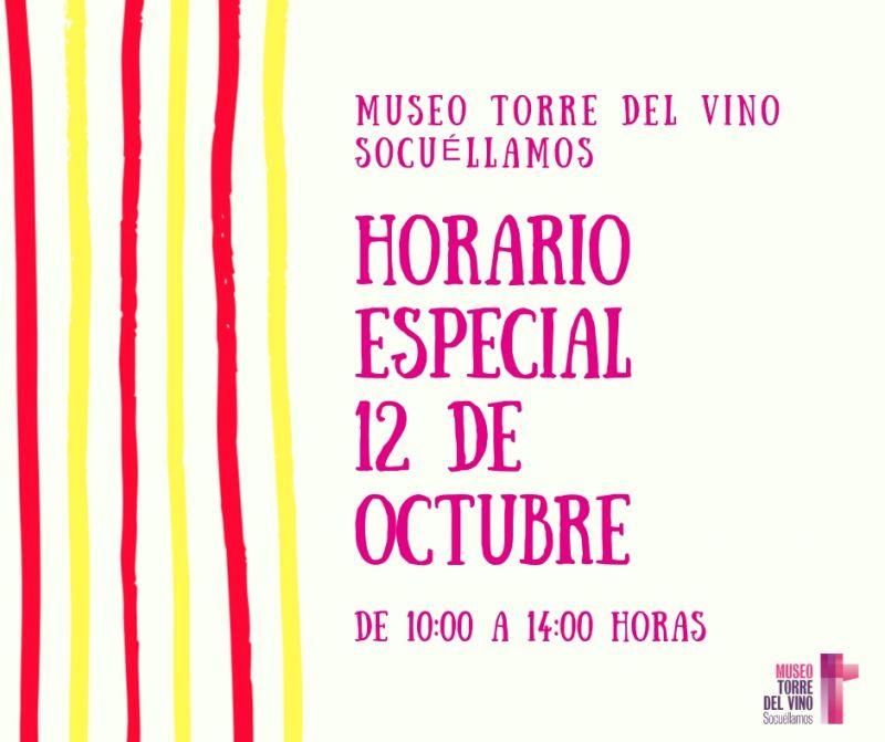 Imagen Horario especial 12 de octubre 2018