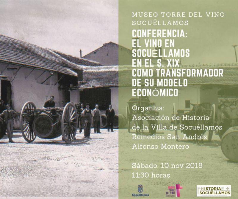 """Imagen  """"El Vino en Socuéllamos en el S. XIX como transformador de su modelo económico"""""""