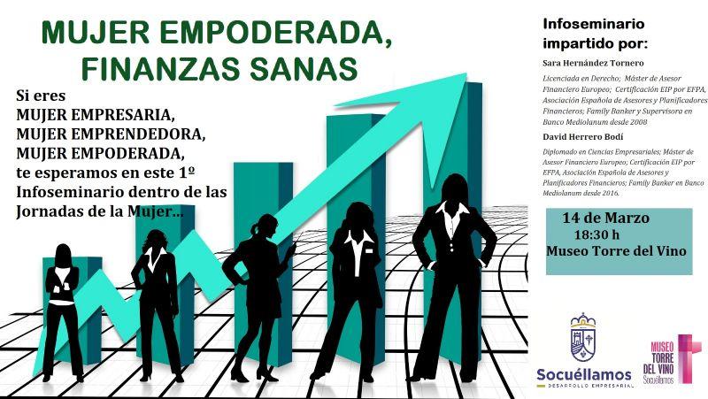 Imagen Infoseminario  'Mujeres empoderadas, finanzas sanas'