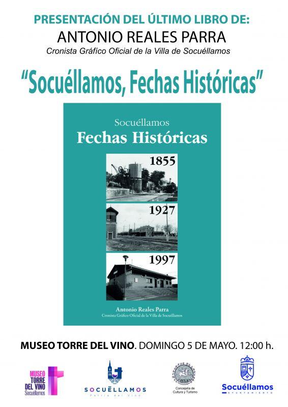 """Imagen Presentación del libro """"Socuéllamos, fechas históricas"""" de Antonio Reales"""