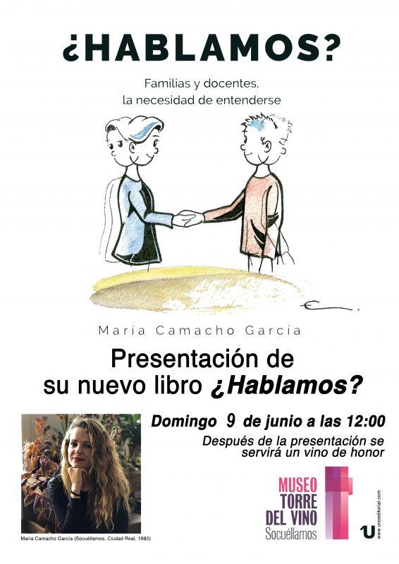 """Imagen Presentación del libro """"¿Hablamos?"""", de María Camacho"""