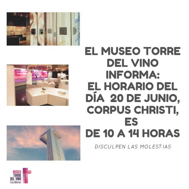 Imagen Horario especial día del Corpus Christi