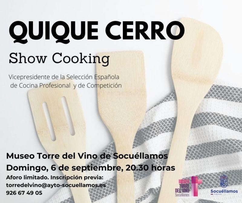 """Imagen """"Show Cooking con Quique Cerro"""""""