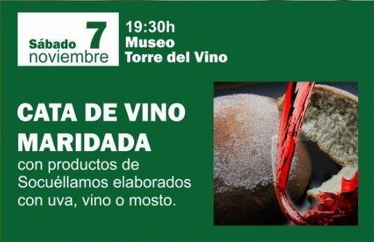 Imagen Cata de Vinos maridada  con productos elaborados con vino