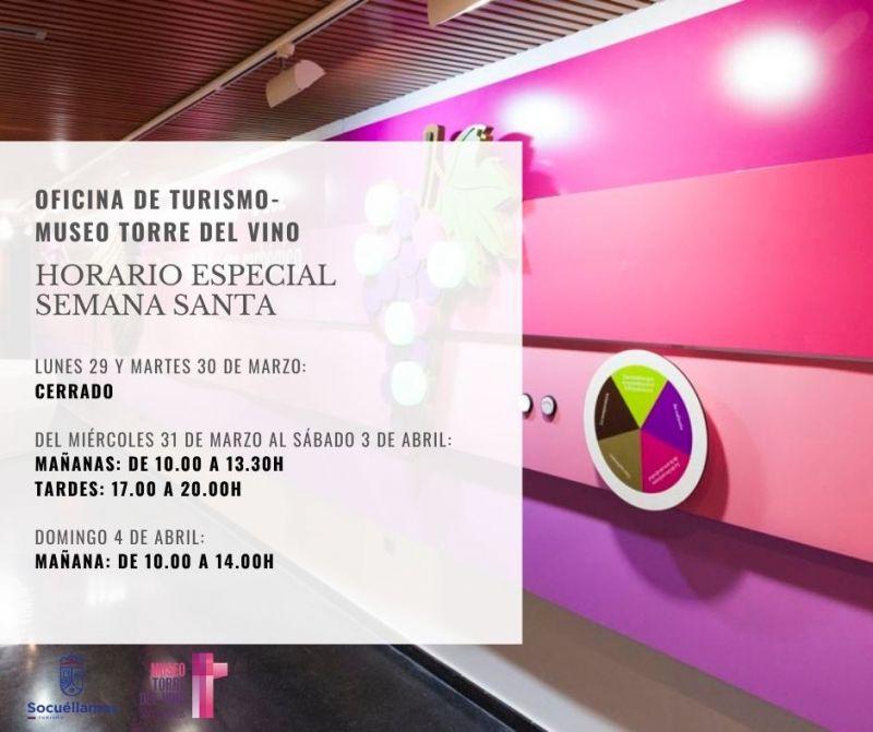 Imagen Horario especial Semana Santa en el Museo Torre del Vino