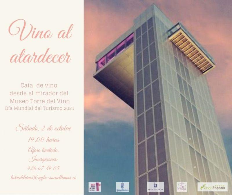 """Imagen """"Un vino al atardecer"""""""