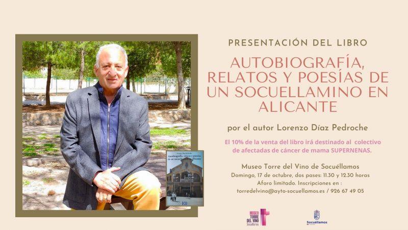 """Imagen Presentación del libro """"Autobiografía. Relatos y Poesías de un socuellamino en Alicante"""""""
